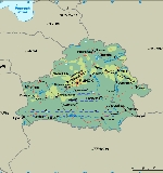 Physical map of Belarus