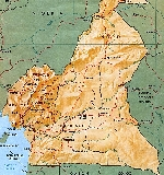 Administrative map of Cameroon