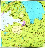 Map of Leningrad Oblast
