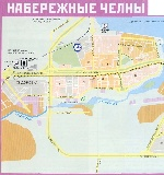 Map of Naberezhnye Chelny