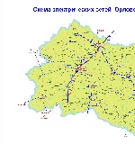 Map of Oryol Oblast