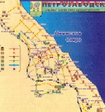 Map of Petrozavodsk